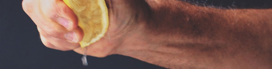 Lemon Squeezed Into Kitchen Drain