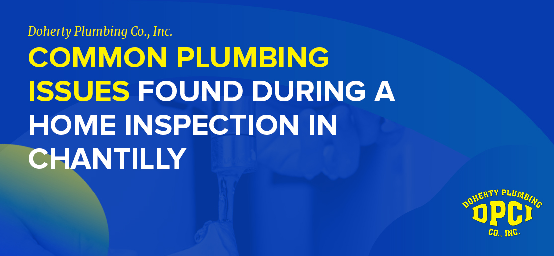 Home Inspection Plumbing in Chantilly